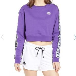 Kappa Active Authentic Logo Tape Crop Sweatshirt